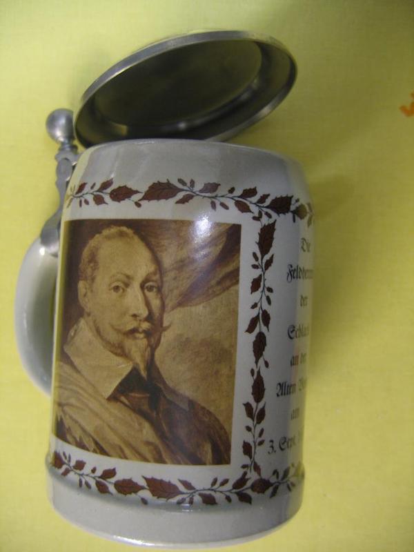 Bierkrug Gustav Adolf und Wallenstein