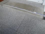 Blockstufe aus Beton