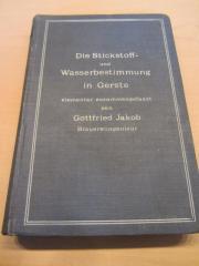 Braugerstenfachbuch Stickstoff u Wasserbestimmung 1907