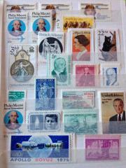 Briefmarken umgestempelt teils