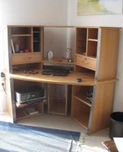 eckschreibtisch buche gewerbe business gebraucht kaufen. Black Bedroom Furniture Sets. Home Design Ideas