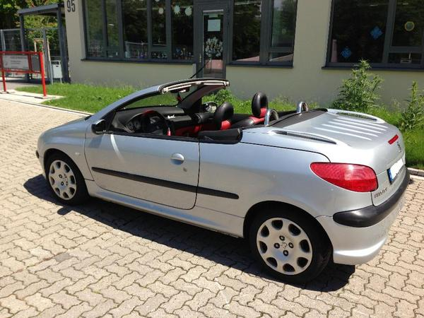 cabrio peugeot 206 cc 110 platinum mit neuem t v in frankfurt peugeot cabrio kaufen und. Black Bedroom Furniture Sets. Home Design Ideas