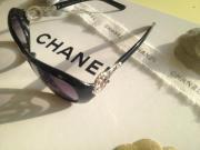 Chanel Sonnenbrille Schwarz Silber Rot