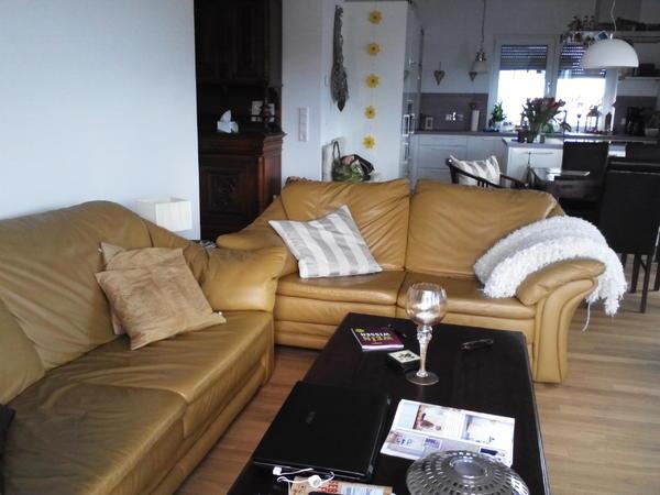 Sofa Altwarmbüchen couchgarnitur sofa 3 2 1 sitzer in leder vanille mit federkern in