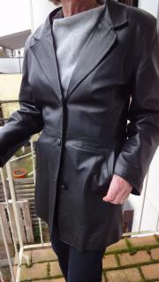 Damen Lederjacke schwarz