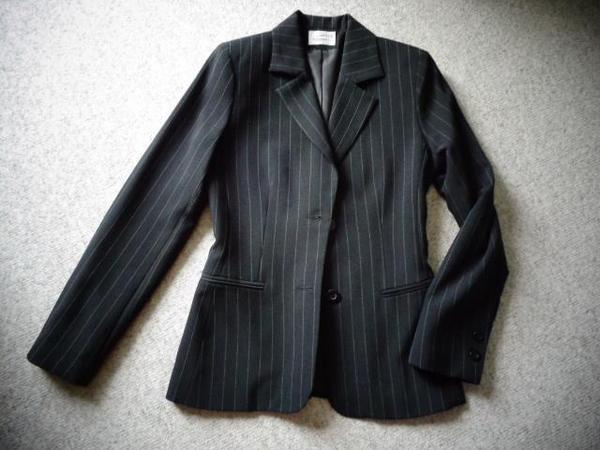 Damenbekleidung Anzug Hosenanzug Blazer Jacke Gr. 34 schwarz