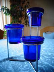 Deko Artikel Teelichthalter 2 Dekoflaschen