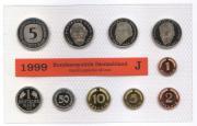 DM Kursmünzensatz von 1999 Münzstätte