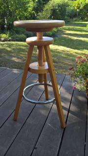 Drehschemel Hocker Barhocker aus Holz