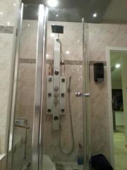 Duschabtrennung Glas Viertelkreisdusche