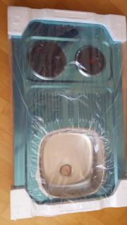 Edelstahl Spüle 2 Schnellkochplatten für
