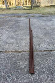 Eisenprofile 4x geriffelte Rund-Eisen voll