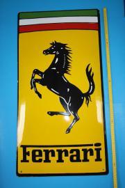 Emailschild - Ferrari - 84 x 44 cm