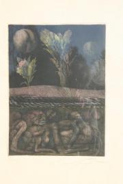 Ernst Fuchs Gemälde Druck - Unikat