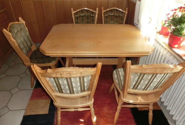 esstisch ausziehbar stuhle gebraucht kaufen nur 3 st bis 60 g nstiger. Black Bedroom Furniture Sets. Home Design Ideas