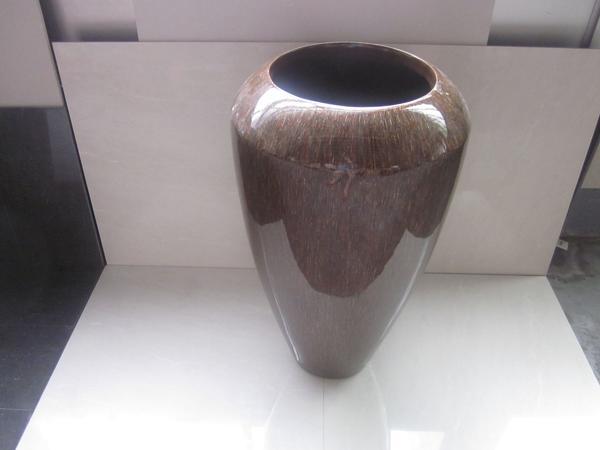 Extravagante Vase / Blumen- / Pflanzkübel, braun-marmoriert (7) in ...
