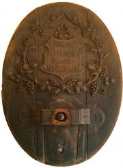 Fassdeckel antik 1893