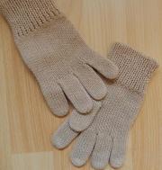 Fingerhandschuhe braun ca 20 cm