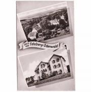 Foto-Ansichtskarte vom Felsberg Odenwald