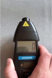 Foto Elektronischer Drehzahlmesser DT2234B Laser