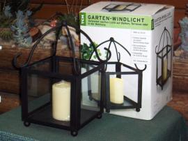 Garten Windlicht Kerze Laterne Lampe Gartenlaterne TCM