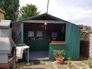 Gartenhütte ( Blockbohlenhütte mit