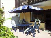 gartenmöbel kunststoff blau, 4 stühle, 4 auflagen, tisch, schirm, Gartenarbeit ideen