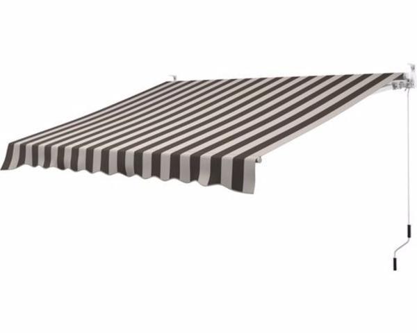 gelenkarmmarkise 3x2 5 m stoff braun beige gestreift in. Black Bedroom Furniture Sets. Home Design Ideas