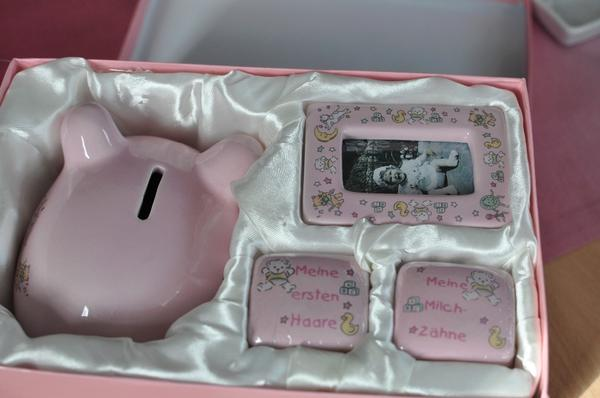 geschenk set baby geburt taufe m dchen sparschwein zahndose in stuttgart baby und. Black Bedroom Furniture Sets. Home Design Ideas