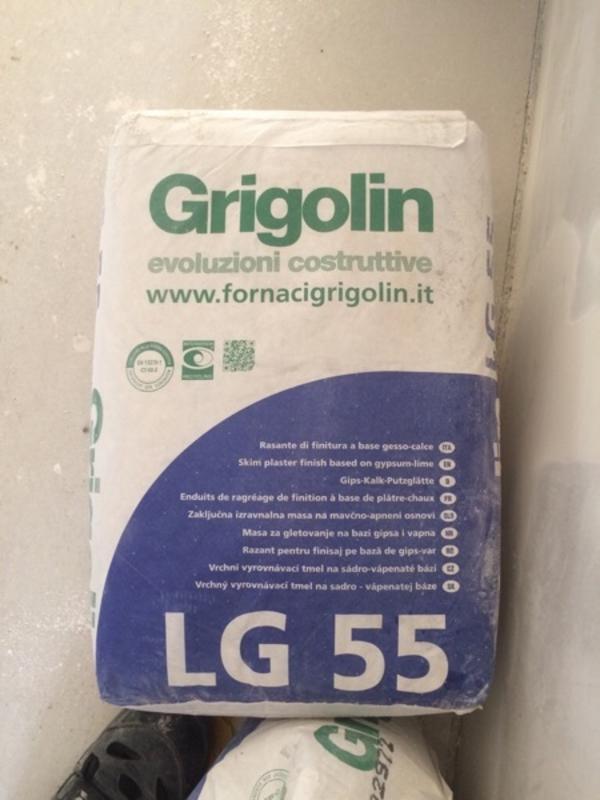 Gips Putzglätte Grigolin LG 55 Neu - Illingen - Es sind 3 Sack vorhanden mit je 20kg. Also ca 60 kg insgesamt.LG 55Gips-Kalk-PutzglätteBESCHREIBUNG:Werktrockenmörtel gem. DIN 18557 mit folgenden Zuschlägen. Kalsteinmehl bis 0,1 mm gem. EN 13139, Gips gem. DIN 1168, Kalk gem. EN 459 und be - Illingen