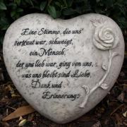 Grabdekoration Herz, Trauerspruch:
