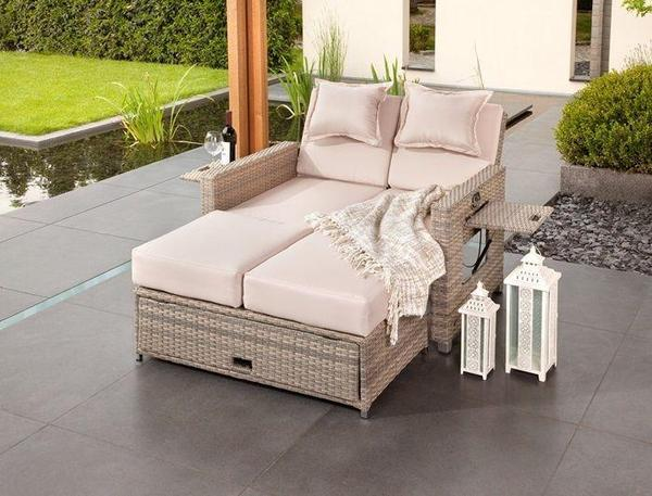 greemotion rattan rattansofa 3 in 1 sonnenliege in hamburg. Black Bedroom Furniture Sets. Home Design Ideas