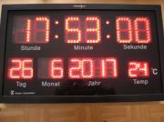 Große LED Funkuhr
