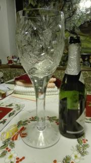 Großes Kristall Römerglas