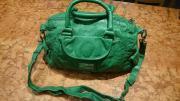 Grüne Henkel- Umhänge-Tasche von Mexx