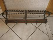 Hängegarderobe Garderobe Metall Holz
