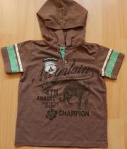 Halbarm-Shirt mit Kapuze Gr 3T