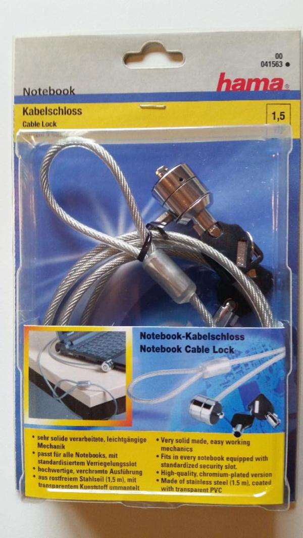 Hama 041563 Notebook-Kabelschloß