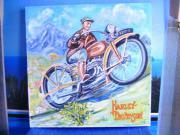 Harley-Davidson-Motiv-Ölbild