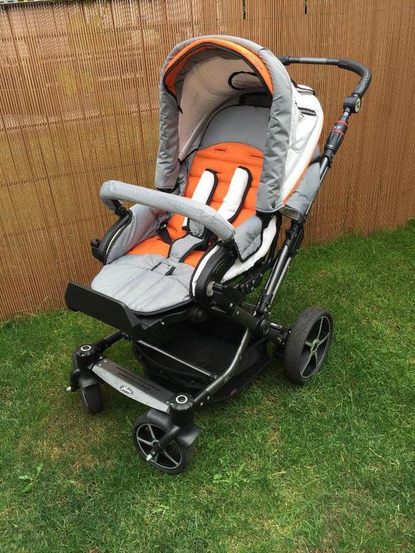 hartan kinderwagen topline s grau orange top in weiterstadt kaufen und verkaufen ber. Black Bedroom Furniture Sets. Home Design Ideas