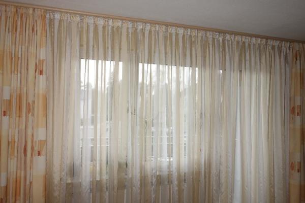 leinen gardine mit hkelspitze beautiful hohl baumwolle leinen vorhang dickes tuch blackout. Black Bedroom Furniture Sets. Home Design Ideas