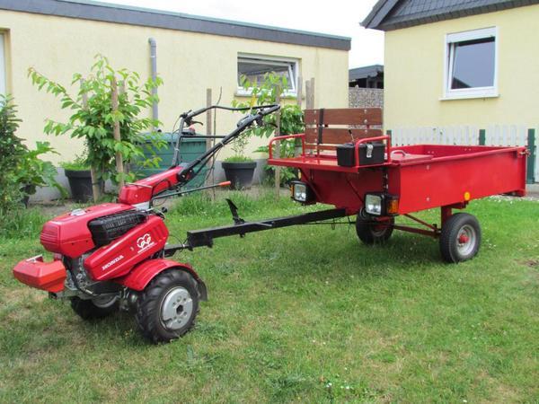 honda f660 einachser mit anh nger einachsschlepper in altlandsberg traktoren. Black Bedroom Furniture Sets. Home Design Ideas