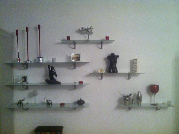 ikea glasregale g nstig abzugeben in m nchen regale. Black Bedroom Furniture Sets. Home Design Ideas