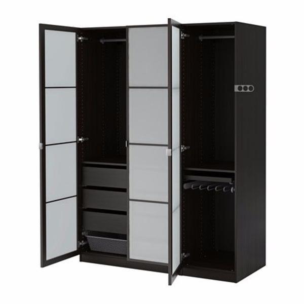 ikea pax kleiderschrank schwarz in schermbeck schr nke sonstige schlafzimmerm bel kaufen und. Black Bedroom Furniture Sets. Home Design Ideas