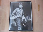 James Dean Poster in schwarzem
