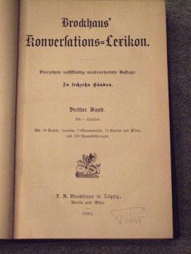 Komplette Sammlungen, Literatur - Jubiläumsausgabe Brockhaus Konversationslexikon 14 Auflage