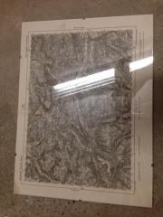 Karte vom Oberinntal in Glas