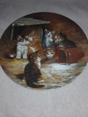Katzen Sammelteller aus