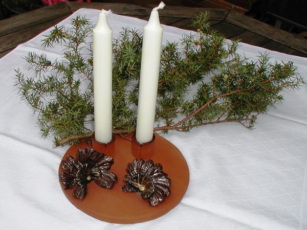 Kerzenhalter Tischdeko Fur Tafelkerzen Kunstkeramik Handarbeit
