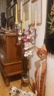 Kerzenständer 6 armig schmiedeisen